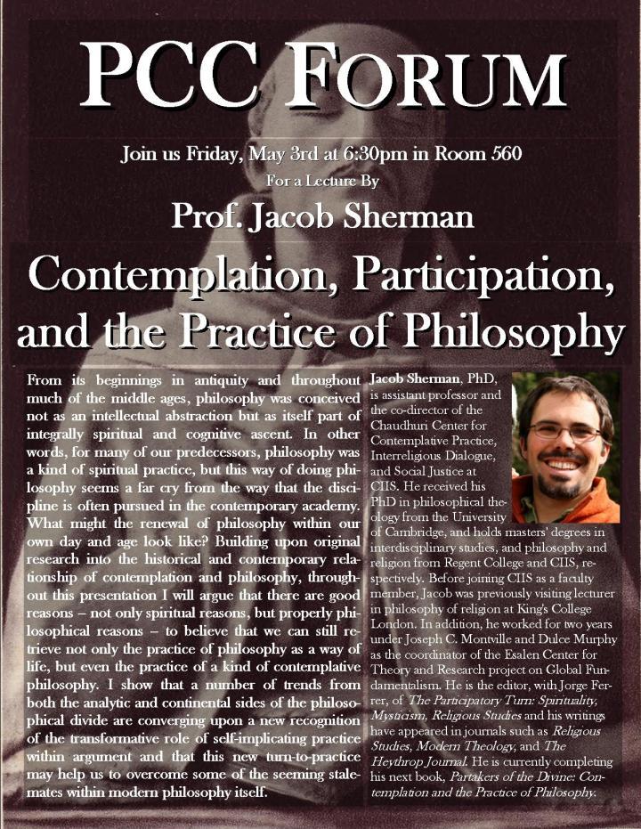 PCC Forum FlyerJake Sherman